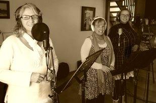 Mary East, Paula Drew, Pamela Pellizzari recording