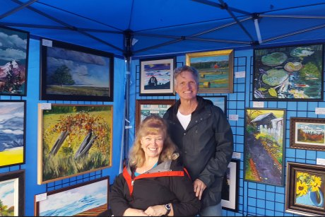 Terry and Laura ready to sell their paintings