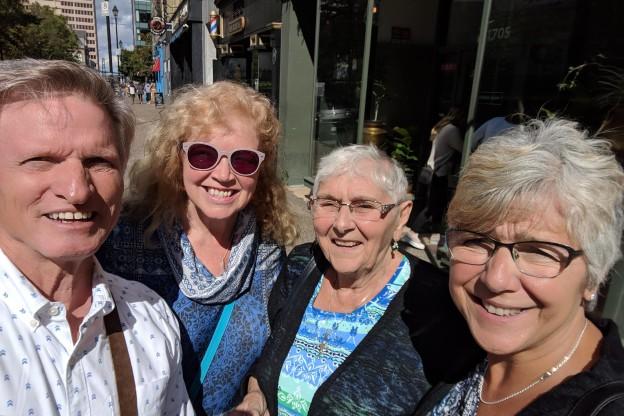 Kathy and Adele and us