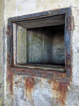 Magazine window at the bunker