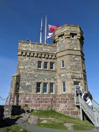 At Cabot Tower