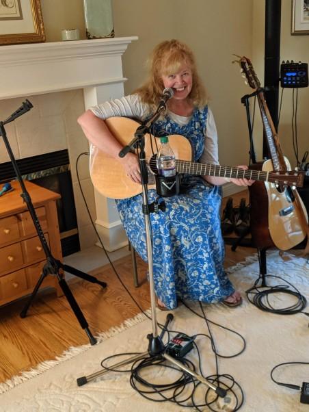 Laura rehearses