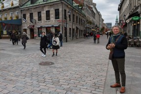 Terry in Old Montreal