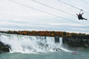 Zip line near the Falls