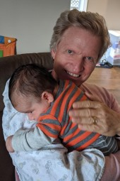 Terry cuddles Felix