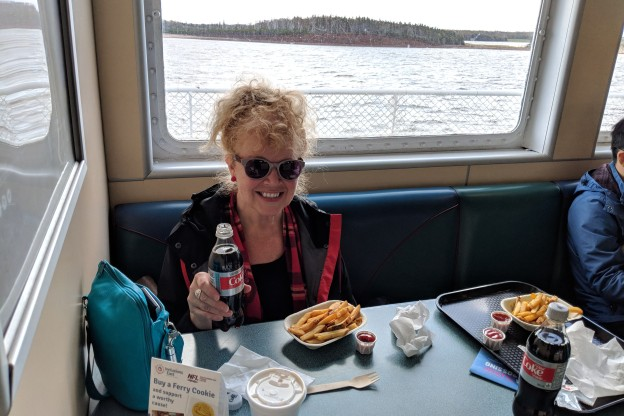 Laura Snacking on Ferry to P.E.I.