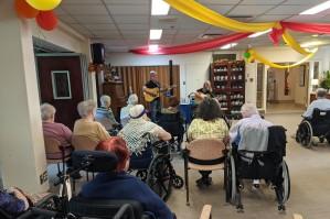 Performing at St. Brigid's