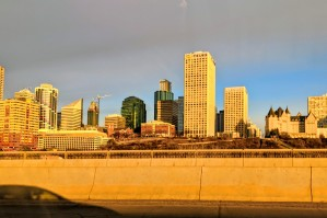 On the way to Paula's, our Edmonton morning skyline
