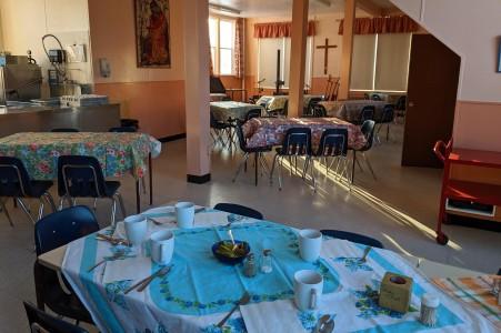 Tables set for concert