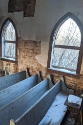 Pews and windows