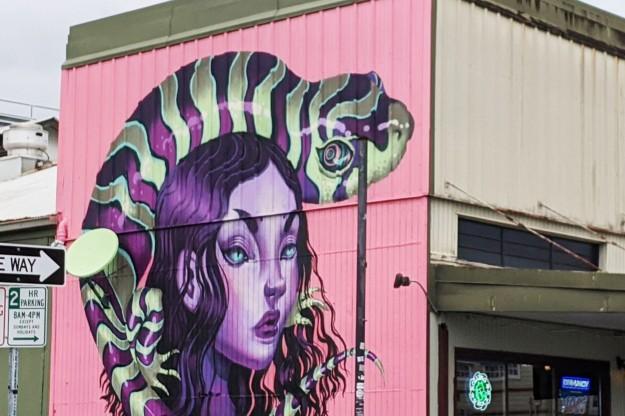Mural Snake Lady