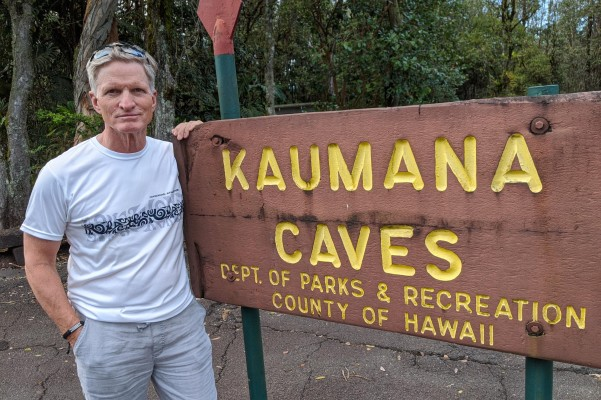 Kauman Caves sign