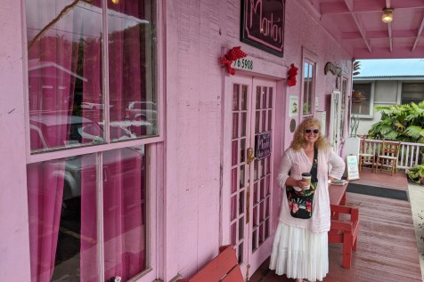 "Laura in front of "" Marla's """