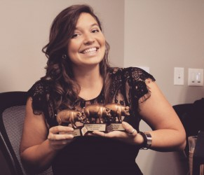 "Lana with her "" HAM "" awards"