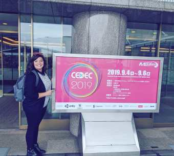 Lana, Japan, about to speak at CEDEC