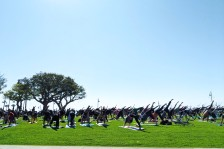 HUGE yoga group