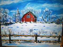 Mary Sweet Winter Scene