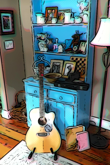 CartoonBlueShelfGuitar