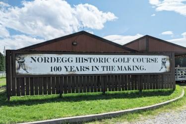 NordeggGolfCourseSign